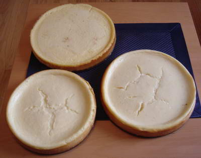 3 Eggnog Cheesecakes