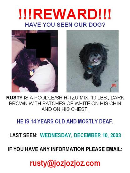 Rusty, please come home!