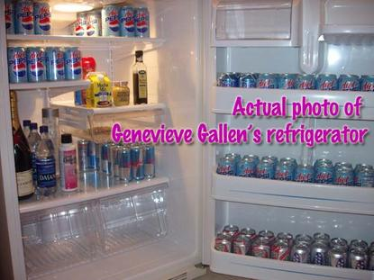 Actual photo of Genevieve Gallen's refrigerator