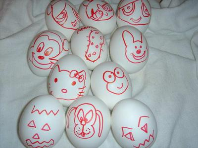 2004 Halloween Eggs by jozjozjoz.