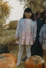 Joz at the pumpkin patch in 1984.  I like how my eyes are closed in this shot.  (How did 20 years go by so quickly?!)