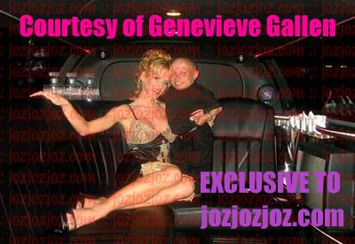 Genevieve and Verne in a limo!
