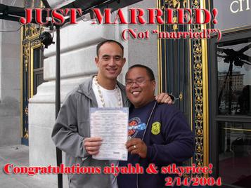 JUST MARRIED!  Outside of City Hall!