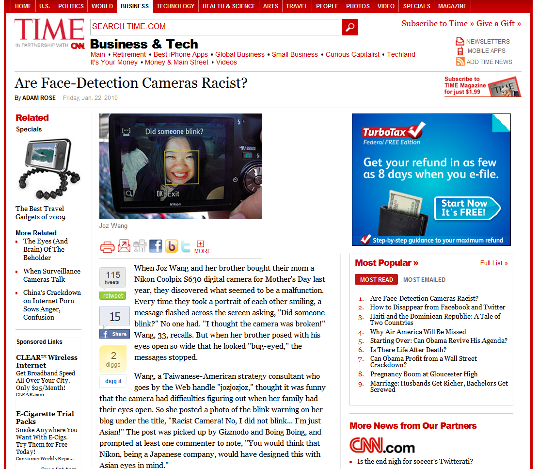 2010-01-22 - Time Magazine - Joz - Racist Camera lede